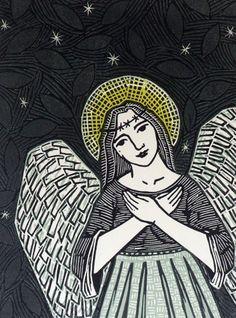 Angel Linocut Print £50.00