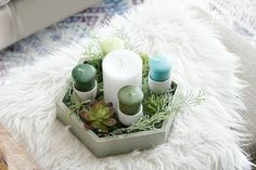 Make a Beautiful DIY Advent Wreath in 5 easy minutes! - Up to Date Interiors