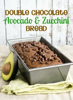 Use up those extra zucchini in this Double Chocolate Avocado and Zucchini Bread! The avocado replaces half of the butter! Gluten Free Desserts, Healthy Desserts, Baking Recipes, Dessert Recipes, Dessert Bread, Zucchini Bread, Sweet Tooth, Food And Drink, Yummy Food