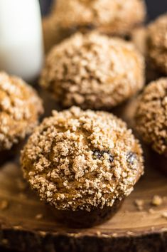 Gluten-Free Pumpkin Crumb Muffins with Chocolate | healthynibblesandbits.com