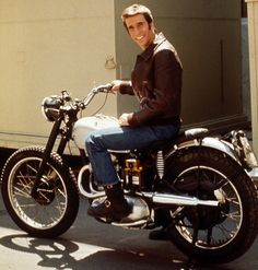 Happy Days! Fonz and 1949 Triumph Trophy 500 #Custom #motorcycle