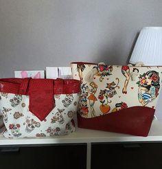 Laure Frouin sur Instagram: Aujourd'hui je vous partage les 2 sacs que j'ai réalisé pour la commande d'une amie. Elle a choisi les modèles et les tissus. J'aime…