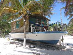 Boat. House. Sian Ka'an - Tulum, Mexico