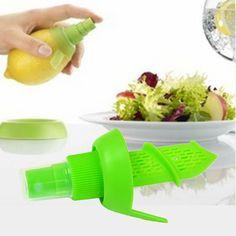 Green Color Lemon sprayer creative home Fruit Vegetable Tools portable mini fruit hand sprayer #Affiliate
