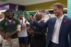Prince Harry congratulates South African rugby team on their World Cup final victory over England England Rugby Team, South Africa Rugby, British And Irish Lions, Women's Cycling Jersey, Cycling Jerseys, Cycling Quotes, Cycling Art, Singing The National Anthem, World Cup Final