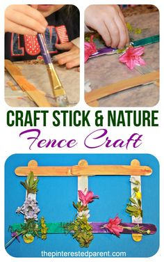 Popsicle stick nature craft for kids - pretty spring or summer arts