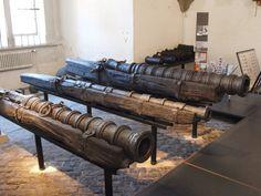 Breech loaders found in a ships wreck near Anholt, DK. Tøjhusmuseet Copenhagen. Denmark