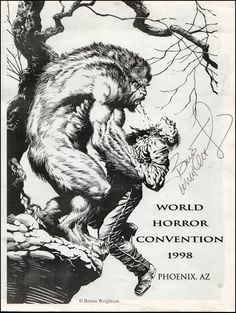 Bernie Wrightson: 1998 World Horror Convention Comic Book Artists, Comic Artist, Comic Books Art, Horror Comics, Horror Art, Dark Fantasy, Fantasy Art, Bernie Wrightson, Werewolf Art