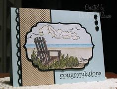 Happy Retirement, Craig!! using Stampin Up Along the Shore
