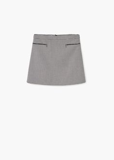 Houndstooth skirt | MANGO