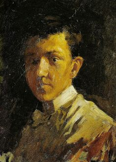 Pablo Picasso. Self-portrait with Close-Cropped Hair. 1896. Early Years.