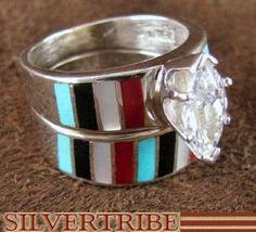Storesfourcornersusaonline Native American Engagement Wedding Ring Sets