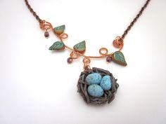 Nest necklace - Blue Frog Designs