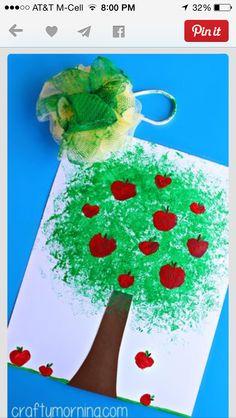 Apple tree art