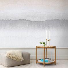 Wunderbar Zweifarbige Tapete In Grautönen Gryning Von Sandberg Zweifarbige Wände,  Wandgestaltung Wohnzimmer Ideen, Tapeten,