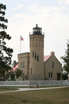 Old Mackinac Lighthouse Michigan  Mackinac Island is a great place to visit.  Beautiful.