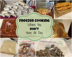 A great resource for freezer cooking over an extended period of time!  Freezer Cooking When You Don't Have All Day ~ A Time to Freeze #freezer cooking
