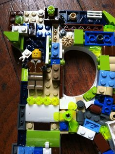 Custom LEGO letter B  made to order by MosaicTreasureBox
