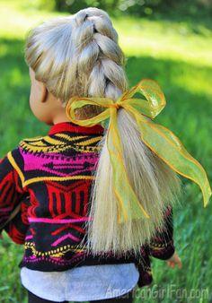Doll Hairstyle: Easy Pull Through Braid! Ag Doll Hairstyles, American Girl Hairstyles, Easy Hairstyles, Ag Hair Products, Pull Through Braid, Ag Doll Clothes, Girl Dolls, Ag Dolls, Braids