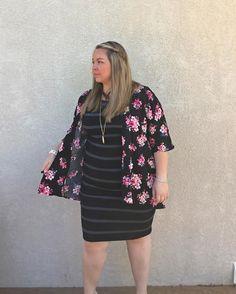 Subtle Pattern Mixing! Love the Lindsay Kimono