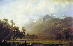 The Sierras Near Lake Tahoe - Albert Bierstadt