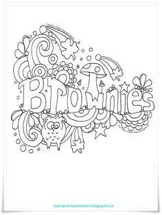 Brownies Doodle by Lee Ann Fraser Brownie Quest, Brownie Girl Scouts, Girl Scout Leader, Girl Scout Troop, Girl Scout Songs, Scout Mom, Brownie Meeting Ideas, Brownie Ideas, Pinterest Logo