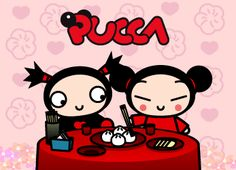 Pucca tv show photo Disney Original Movies, Kissy Face, Cartoon Books, Cartoon Wallpaper, Funny Love, Sweet Cakes, The Good Old Days, Anime Style, Old Tv Shows