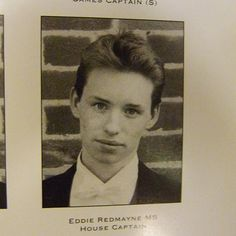 eddie's yearbook picture. Aww little Edward