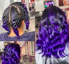 Bold Hair Color, Beautiful Hair Color, Hair Color For Black Hair, Pressed Natural Hair, Dyed Natural Hair, Violet Hair, Purple Hair, Curly Hair Styles, Natural Hair Styles