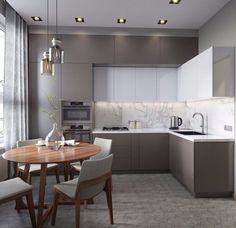 Outstanding kitchen style are readily available on our site. Check it out and you wont be sorry you did. Kitchen Room Design, Luxury Kitchen Design, Kitchen Cabinet Design, Home Decor Kitchen, Kitchen Living, Interior Design Kitchen, Home Kitchens, Kitchen Ideas, Small Modern Kitchens