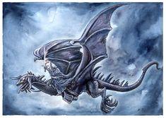 Witch king on his fell beast by jankolas on DeviantArt
