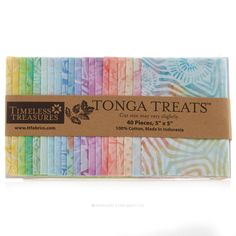 Tonga Treats Batiks - Bouquet Charm Pack - Timeless Treasures - Timeless Treasures