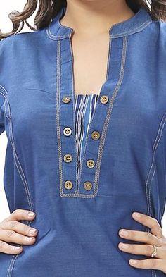 Ideas sewing women tunic neckline for 2019 Zerschnittene Shirts, Cut Up Shirts, Tie Dye Shirts, Neckline Designs, Dress Neck Designs, Blouse Designs, One Direction Shirts, Kurta Neck Design, Kurti Neck