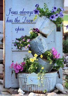 jesus always has the door open rustic garden decorrustic - Open Garden Decor
