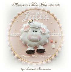 *FELT ART ~ Ovelhinha | by Mamma Mia Handmade