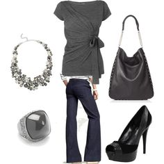 grey and black, created by goodnightle.polyvore.com