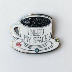 I need my space enamel lapel pin badge (Compoco @ Etsy). Books And Tea, I Love Diy, Jacket Pins, Demin Jacket, Cool Pins, Pin And Patches, Diy Patches, Pin Badges, Lapel Pins