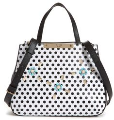 46d488bca72c Guess Britta Small Society Satchel. A must-have satchel designed with  polka-dot