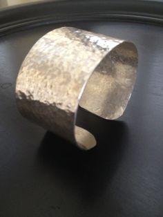 Cuff Sterling Silver Hammered Bracelet