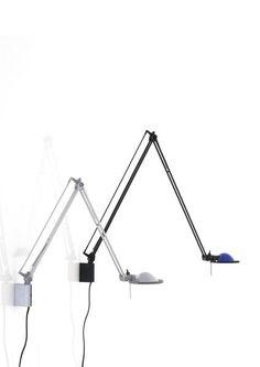 Luceplan Berenice Parete Aluminium Reflektor weiß und schwarz blau