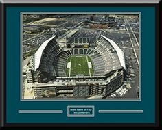 Philadelphia Eagles Lincoln Financial Aerial View Large Stadium Poster with team plaque-Framed With Team Color Double Matting Art and More, Davenport, IA http://www.amazon.com/dp/B00NFALCCC/ref=cm_sw_r_pi_dp_0Koxub1ZJED0A