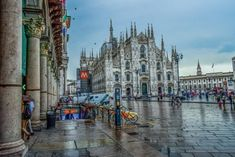 If you're at Milan Fashion Week this week, stop by the Duomo Cathedral, one of the most beautiful buildings in Milan. The stunning gothic facade took 600 years to build and is definitely worth a trip ✅ Cool Places To Visit, Great Places, Voyager Loin, Destinations, Ravenna, Pompeii, Beautiful Buildings, Churchill, Italy Travel