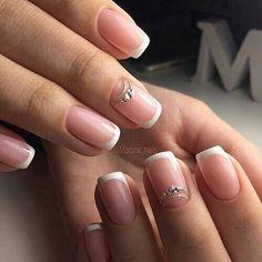 french nails short Tips Pretty Nail Designs, Simple Nail Art Designs, Easy Nail Art, Cool Nail Art, White Nail Art, White Nails, Fun Nails, Pretty Nails, French Tip Nail Art