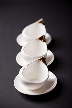 Filiżanka Ina, Ina Cup, AS Cmielow, Porcelana ze złotem. Hand made @manufakturastylu #porcelana #cmielow #filizanka