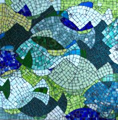 """I just completed this mosaic, called """"Summer School,"""" to enter in a competition sponsored by the online mosaic community Contemporary Mosaic..."""