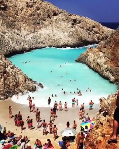 Does this natural wave pool make you miss summer? Greece islands are epic 😍 V… Does this natural wave pool make you miss summer? Greece islands are epic 😍 Video by aspa zachariou Explore. Dream Vacations, Vacation Trips, Vacation Spots, Italy Vacation, Hidden Beach, Places To Travel, Travel Destinations, Wave Pool, Greece Islands