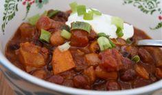 Dinner Tonight: Slow Cooker 3-Bean Pumpkin Chili
