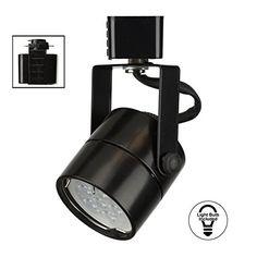 DD Brand H System GU10 Line Voltage Track Lighting Fixture Black with 75W 3K Warm White LED Bulb HTC9154W3KBK *** For more information, visit image link. (Note:Amazon affiliate link) #Lighting