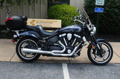 2007 Yamaha Road Star Warrior for sale at Wengers of Myerstown, Motorcycle Sales. Blue with Silver Flames. Has Windshield, Corbin Seat,Highway Pegs and  Upgraded Grips. Only $8250