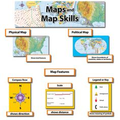 The Map and Map Skills Mini Bulletin Board Set is perfect to teach geography and social studies!